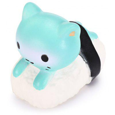Cute Slow Rebound Squishy Sushi Cat Toy