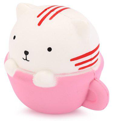 Cute Slow Rebound Squishy Circular Cup Cat Toy