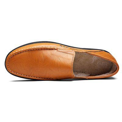 Male Casual Soft Stitching Slip On Leather ShoesMen's Oxford<br>Male Casual Soft Stitching Slip On Leather Shoes<br><br>Closure Type: Slip-On<br>Contents: 1 x Pair of Shoes<br>Function: Slip Resistant<br>Materials: Rubber, Leather<br>Occasion: Office, Holiday, Daily, Casual<br>Outsole Material: Rubber<br>Package Size ( L x W x H ): 33.00 x 22.00 x 11.00 cm / 12.99 x 8.66 x 4.33 inches<br>Package Weights: 0.98kg<br>Pattern Type: Solid<br>Seasons: Autumn,Spring<br>Style: Modern, Leisure, Fashion, Comfortable, Casual<br>Toe Shape: Round Toe<br>Type: Casual Leather Shoes<br>Upper Material: Leather