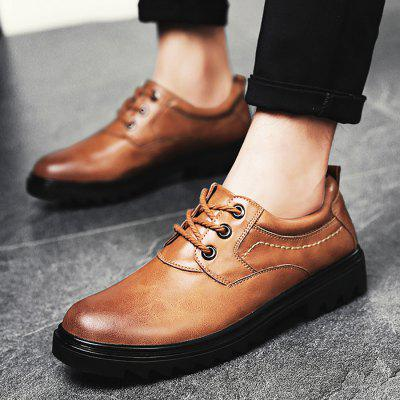 Male Slip Resistance Stitching Lace Up Leather ShoesFormal Shoes<br>Male Slip Resistance Stitching Lace Up Leather Shoes<br><br>Closure Type: Lace-Up<br>Contents: 1 x Pair of Shoes<br>Function: Slip Resistant<br>Materials: Rubber, Leather<br>Occasion: Office, Daily, Casual<br>Outsole Material: Rubber<br>Package Size ( L x W x H ): 33.00 x 22.00 x 11.00 cm / 12.99 x 8.66 x 4.33 inches<br>Package Weights: 0.98kg<br>Pattern Type: Solid<br>Seasons: Autumn,Spring<br>Style: Modern, Leisure, Fashion, Casual, Business<br>Toe Shape: Round Toe<br>Type: Casual Leather Shoes<br>Upper Material: Leather