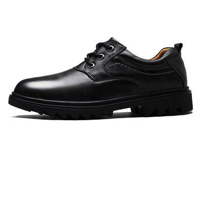 Masculino Slip Resistance Stitching Lace Up Leather Formal Shoes