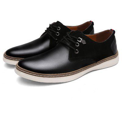 Masculino Slip Resistance Split Joint Lace Up Leather Formal Shoes