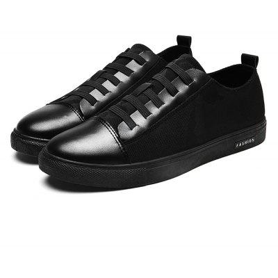 Simple Slip Resistance Lace Up Leather Shoes for Men
