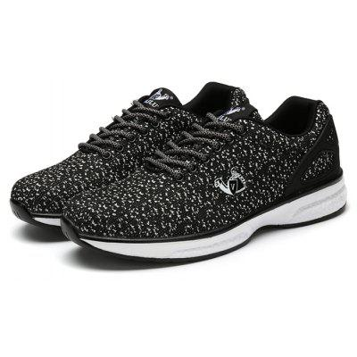 Buy BLACK WHITE ZHJLUT Male Mesh Lace Up Outdoor Leisure Athletic Shoes for $31.12 in GearBest store