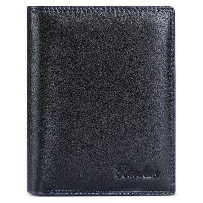 Buy BLACK Banlear Genuine Leather Men Wallet for $16.49 in GearBest store