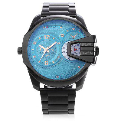 JUBAOLI G - 9905 2 Movt Quartz Men WatchMens Watches<br>JUBAOLI G - 9905 2 Movt Quartz Men Watch<br><br>Band material: Steel<br>Band size: 13 x 2.3 cm<br>Brand: Jubaoli<br>Case material: Alloy<br>Clasp type: Sheet folding clasp<br>Dial size: 5 x 5 x 1.2 cm<br>Display type: Analog<br>Movement type: Double-movtz<br>Package Contents: 1 x Watch, 1 x Box<br>Package size (L x W x H): 26.50 x 13.00 x 6.50 cm / 10.43 x 5.12 x 2.56 inches<br>Package weight: 0.2100 kg<br>Product size (L x W x H): 18.00 x 5.00 x 1.20 cm / 7.09 x 1.97 x 0.47 inches<br>Product weight: 0.1550 kg<br>Shape of the dial: Round<br>Watch style: Fashion, Retro<br>Watches categories: Men<br>Water resistance : 30 meters