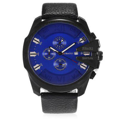 JUBAOLI 9907 Retro Leather Band Men Quartz WatchMens Watches<br>JUBAOLI 9907 Retro Leather Band Men Quartz Watch<br><br>Band material: Leather<br>Band size: 25 x 2.4cm<br>Brand: Jubaoli<br>Case material: Alloy<br>Clasp type: Pin buckle<br>Dial size: 5 x 5 x 1.2cm<br>Display type: Analog<br>Movement type: Quartz watch<br>Package Contents: 1 x Watch, 1 x Box<br>Package size (L x W x H): 8.50 x 8.00 x 5.30 cm / 3.35 x 3.15 x 2.09 inches<br>Package weight: 0.1650 kg<br>Product weight: 0.1100 kg<br>Shape of the dial: Round<br>Watch mirror: Acrylic<br>Watch style: Retro, Fashion<br>Watches categories: Men<br>Water resistance : 30 meters<br>Wearable length: 17 - 23cm