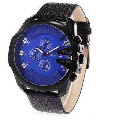 JUBAOLI 9907 Retro Leather Band Men Quartz Watch