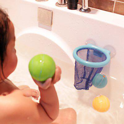 Squeeze Squirt Bathtime Basketball Toys with Ball Basket