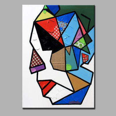 YHHP Abstract Style Colorful Abstract Faces Oil Painting