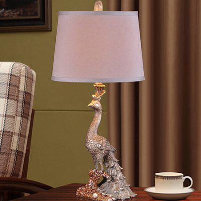Retro Luxury Creative Peacock Shape Table Lamp 220V