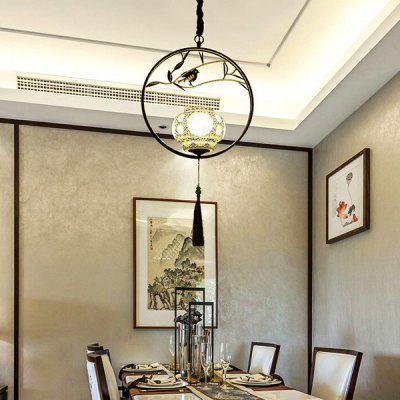 E27 Modern Creative Chinese Style Pendant Light 220VPendant Light<br>E27 Modern Creative Chinese Style Pendant Light 220V<br><br>Battery Included: No<br>Bulb Base: E27<br>Bulb Included: No<br>Chain / Cord Adjustable or Not: Chain / Cord Adjustable<br>Chain / Cord Length ( CM ): 50cm<br>Features: Designers<br>Fixture Height ( CM ): 20cm<br>Fixture Length ( CM ): 43cm<br>Fixture Width ( CM ): 43cm<br>Light Direction: Downlight<br>Number of Bulb: 1 Bulb<br>Package Contents: 1 x Pendant Light, 1 x Installation Component Kit<br>Package size (L x W x H): 53.00 x 53.00 x 25.00 cm / 20.87 x 20.87 x 9.84 inches<br>Package weight: 6.0500 kg<br>Product weight: 5.0000 kg<br>Shade Material: Ceramic, Iron<br>Style: Modern/Contemporary<br>Suggested Room Size: 5 - 10?<br>Suggested Space Fit: Indoor<br>Type: Pendant Light<br>Voltage ( V ): 220