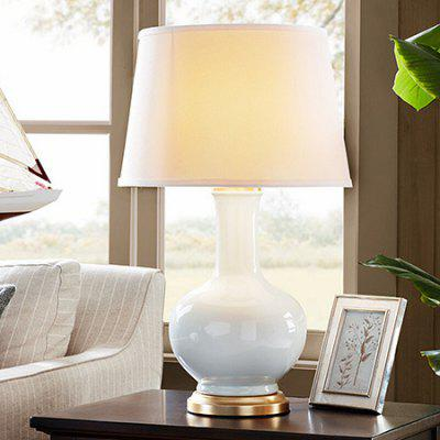 E27 Modern Simple Style Table Light 220VTable Lamps<br>E27 Modern Simple Style Table Light 220V<br><br>Available Color: White<br>Bulb Base Type: E27<br>Input Voltage: 220V<br>Material: Ceramic, Fabric<br>Package Contents: 1 x Desk Lamp<br>Package size (L x W x H): 48.00 x 48.00 x 80.00 cm / 18.9 x 18.9 x 31.5 inches<br>Package weight: 5.0300 kg<br>Powered Source: AC<br>Product size (L x W x H): 38.00 x 38.00 x 72.00 cm / 14.96 x 14.96 x 28.35 inches<br>Product weight: 4.0000 kg<br>Suitable for: Home use, Home Decoration