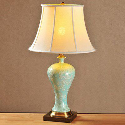 New Chinese Painted Fish Scales Ceramic Table Lamp 220V