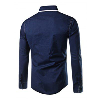 Men Button Down Long Sleeve Splicing ShirtMens Shirts<br>Men Button Down Long Sleeve Splicing Shirt<br><br>Material: Cotton, Polyester<br>Package Contents: 1 x Shirt<br>Package size: 40.00 x 30.00 x 2.00 cm / 15.75 x 11.81 x 0.79 inches<br>Package weight: 0.3300 kg<br>Product weight: 0.2500 kg