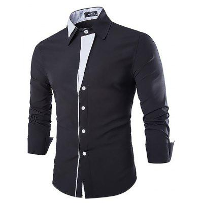 Buy BLACK Casual Fashion Classical Long Sleeve Shirt for $18.92 in GearBest store