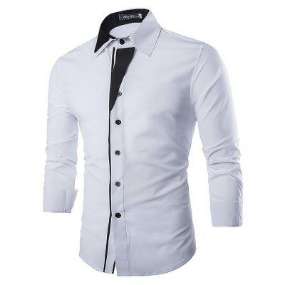 Buy WHITE Casual Fashion Classical Long Sleeve Shirt for $18.92 in GearBest store