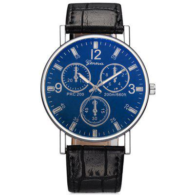 Three - eyed Blu - ray Roman Scale Simple Fashion Watch