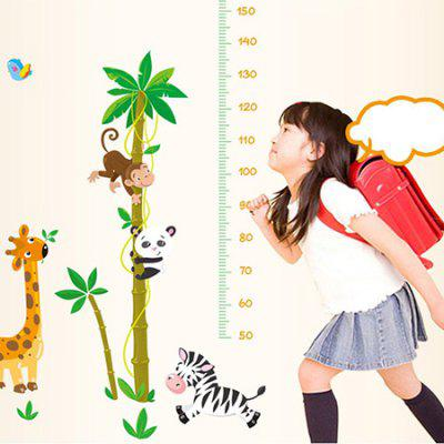 DSU Kids Room Cute Animal Height Sticker