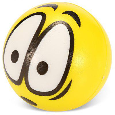 6.3cm Emoji Shocked / Surprised PU Foam Squishy Toy