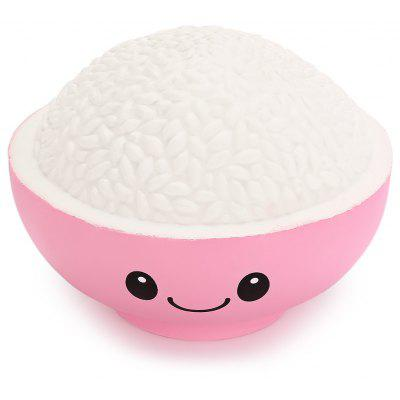 Buy PINK Cartoon Bowl of Rice PU Foam Squishy Toy for $7.24 in GearBest store