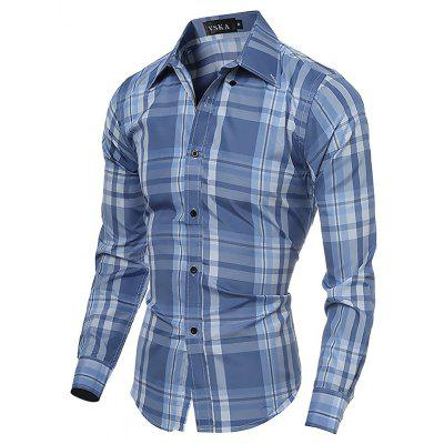 Male Classic Long Sleeve Checked Shirt