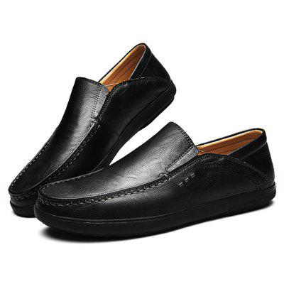 Mâle Casual Soft Stitching Slip On Oxford Shoes