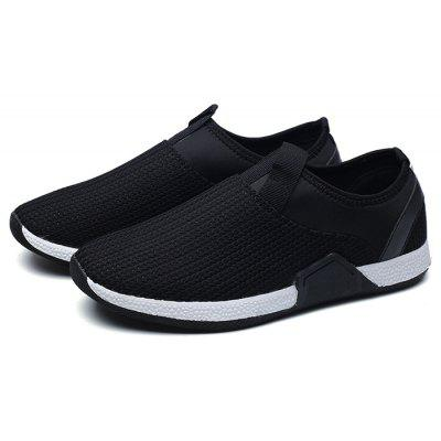 Male Stitching Split Joint Slip On Knitted Boat Shoes