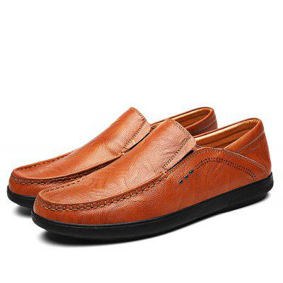 Male Casual Soft Stitching Slip On Oxford Shoes