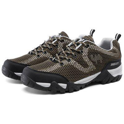 ZHJLUT Male Mesh Lace Up Light Outdoor Athletic Shoes