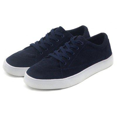 Male Casual Flat Cloth Walking Lace Up Shoes