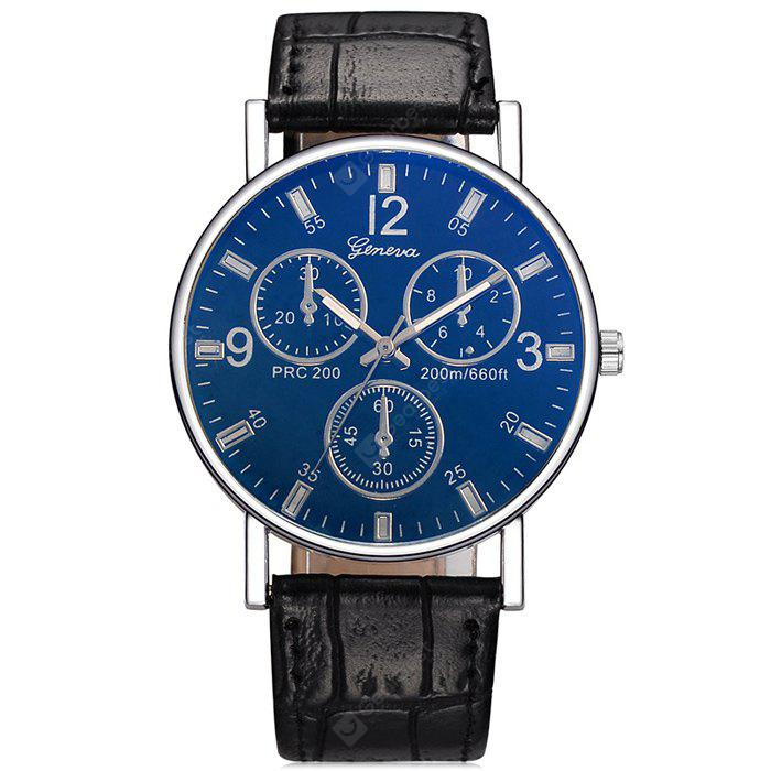 Three - eyed Blu - ray Roman Scale Simple Fashion Watch | Gearbest