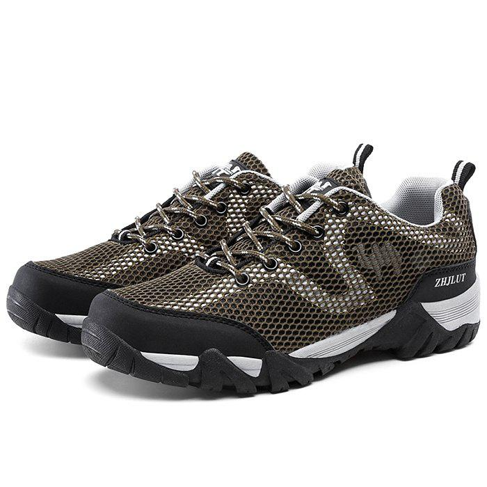 ZHJLUT Männliche Mesh Lace Up Light Outdoor Athletic Schuhe