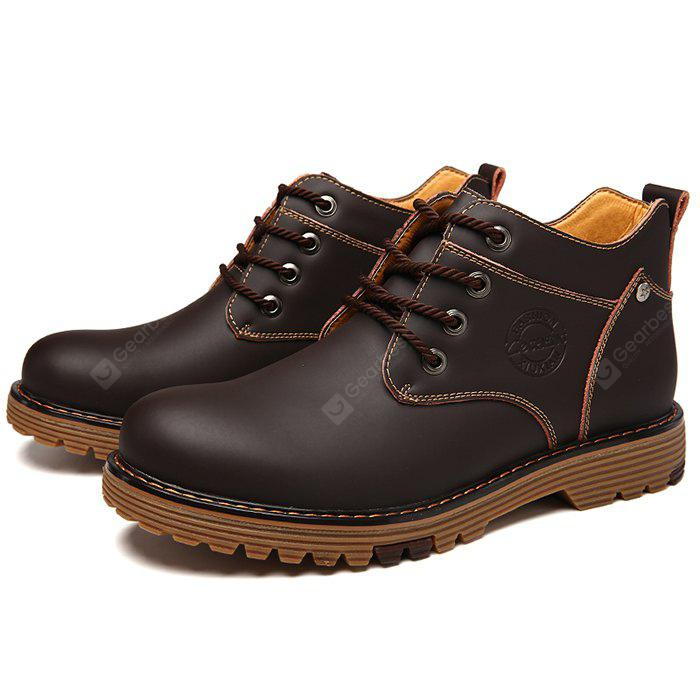 Male Martin High Slip Resistance Lace Up Leather Boots