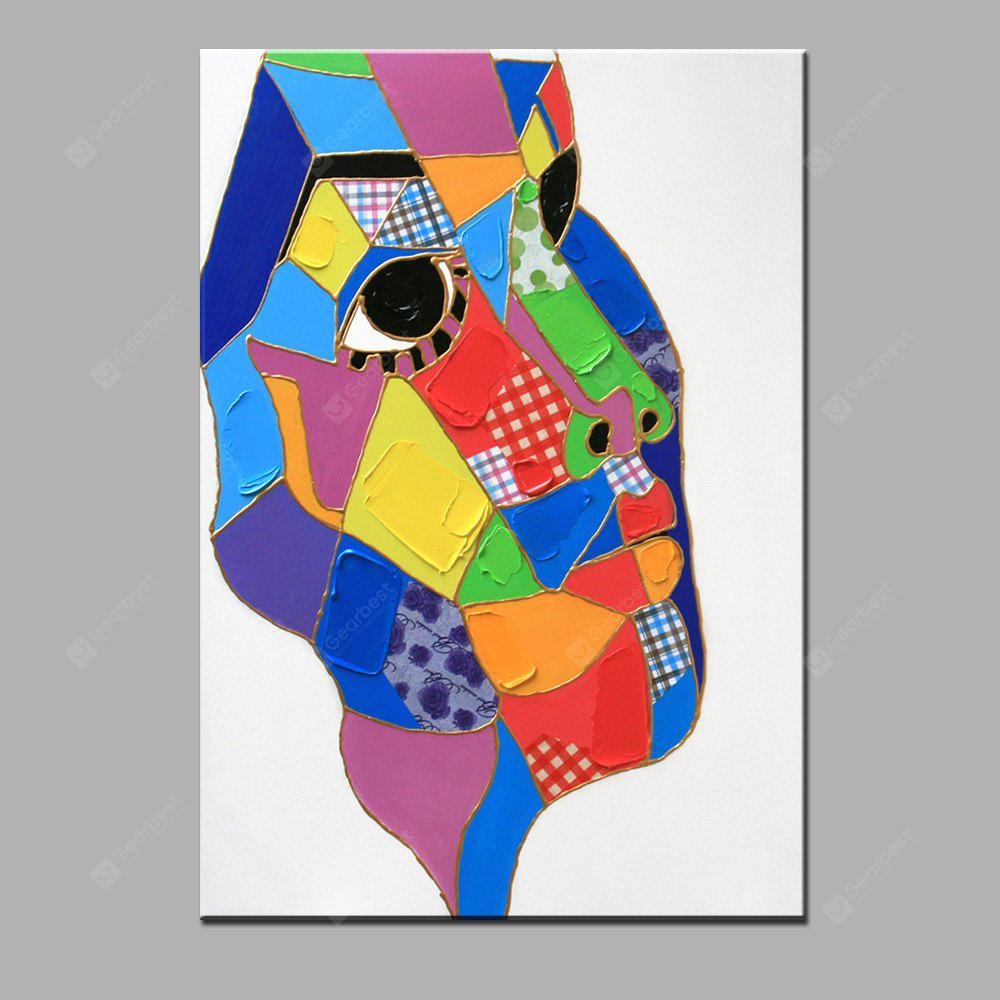 YHHP Abstract Face Canvas Oil Painting Modern Art