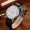 Geneva Men Analog Quartz Watch - BLACK AND WHITE