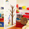 DSU Cute Alpaca Design Height Wall Sticker - COLORMIX
