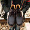 Male Martin High Slip Resistance Lace Up Leather Boots - DEEP BROWN