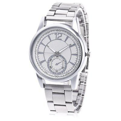 Buy SILVER Unisex Unique Fashionable Steel Band Wrist Watch for $6.30 in GearBest store