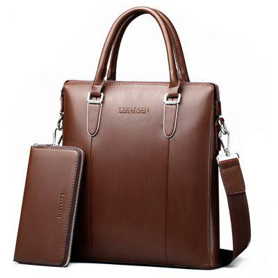 LEINASEN Vertical Shoulder Bag for Men