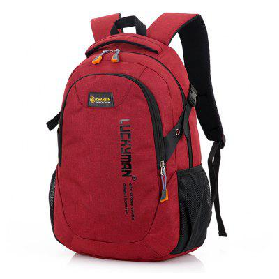 Buy RED Leisure Durable Laptop Computer Men Backpack for $21.20 in GearBest store