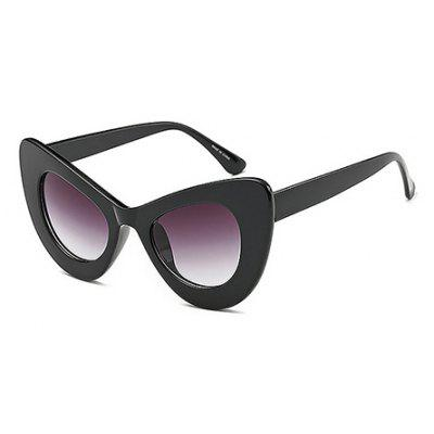 Buy BLACK Fashion Cat Eye Unisex Sunglasses for $6.25 in GearBest store