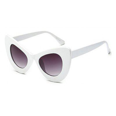 Buy WHITE Fashion Cat Eye Unisex Sunglasses for $6.25 in GearBest store