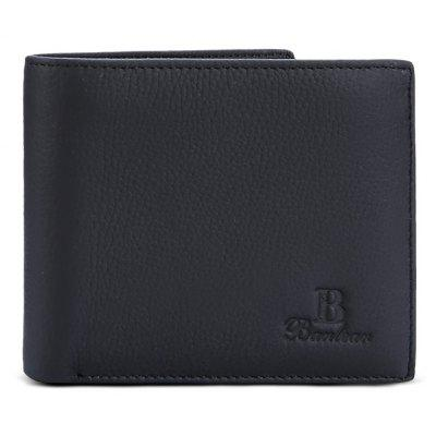 Buy BLACK Banlear Stylish Solid Color Men Wallet for $11.58 in GearBest store