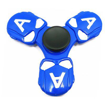 Three-blade Alien Head Zinc Alloy Fidget Spinner