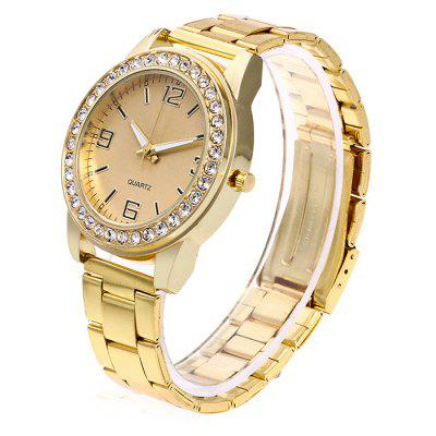 Фото #1: Female Fashionable Quartz Watch with Artificial Diamonds