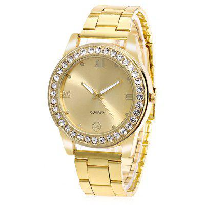Women Unique Quartz Watch with Artificial Diamonds