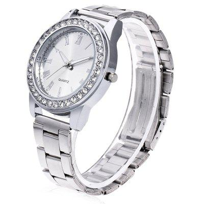 Women Retro Quartz Watch with Artificial DiamondsWomens Watches<br>Women Retro Quartz Watch with Artificial Diamonds<br><br>Band material: Steel<br>Band size: 24.5 x 2cm<br>Case material: Steel<br>Clasp type: Butterfly clasp<br>Dial size: 3.5 x 3.5 x 1cm<br>Display type: Analog<br>Movement type: Quartz watch<br>Package Contents: 1 x Watch, 1 x Box<br>Package size (L x W x H): 8.00 x 7.50 x 5.50 cm / 3.15 x 2.95 x 2.17 inches<br>Package weight: 0.1000 kg<br>Product size (L x W x H): 24.50 x 3.50 x 1.00 cm / 9.65 x 1.38 x 0.39 inches<br>Product weight: 0.0500 kg<br>Shape of the dial: Round<br>Watch mirror: Acrylic<br>Watch style: Fashion<br>Watches categories: Women<br>Water resistance : No