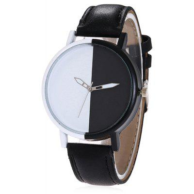 Women Simple PU Band Quartz Watch