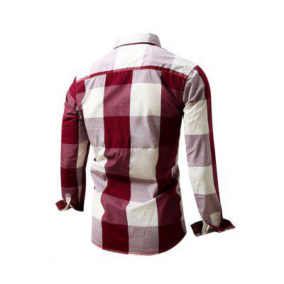 Simple Classic Long Sleeve Checked ShirtMens Shirts<br>Simple Classic Long Sleeve Checked Shirt<br><br>Material: Cotton<br>Package Contents: 1 x Men Shirt<br>Package size: 35.00 x 25.00 x 2.00 cm / 13.78 x 9.84 x 0.79 inches<br>Package weight: 0.3400 kg<br>Product weight: 0.3000 kg